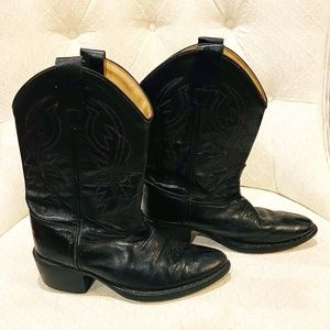 Old West Unisex-Child J Toe Western Boot